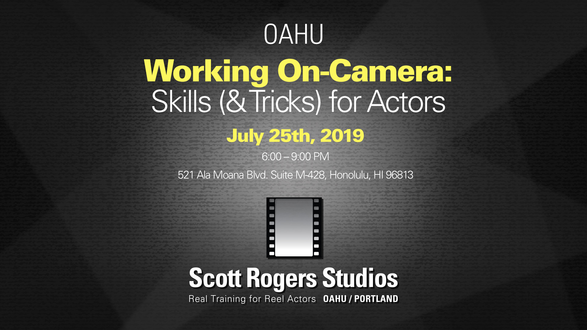 Working On-Camera: Skills (& Tricks) for Actors
